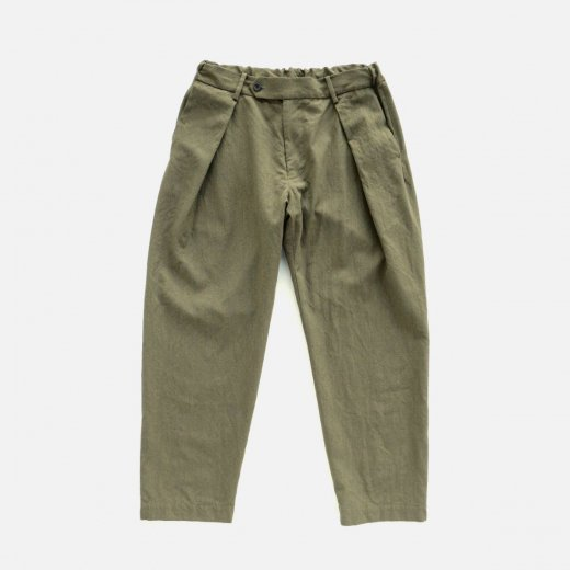 -21AW先行受注- WASHABLE WOOLGABA TUCK SLACKS