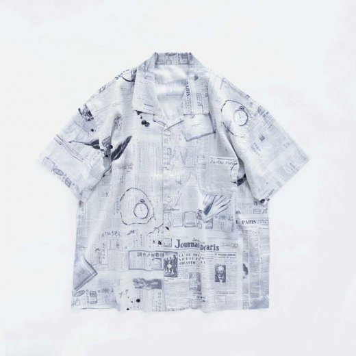 <img class='new_mark_img1' src='https://img.shop-pro.jp/img/new/icons1.gif' style='border:none;display:inline;margin:0px;padding:0px;width:auto;' />MONSIER KURATA COTTON LINEN SHORT SLEEVE SHIRT