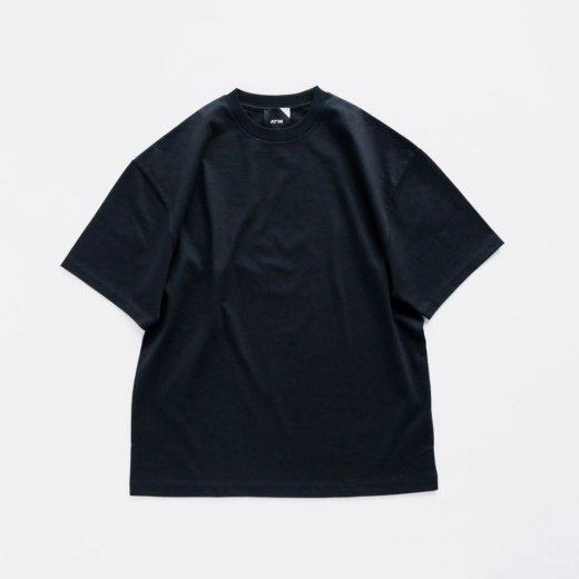 SUVIN 60/2 OVERSIZED T-SHIRT(BLACK)