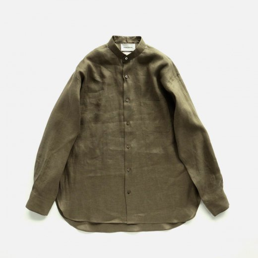<img class='new_mark_img1' src='https://img.shop-pro.jp/img/new/icons1.gif' style='border:none;display:inline;margin:0px;padding:0px;width:auto;' />COMFORT FIT BAND COLLAR SHIRT HEMP