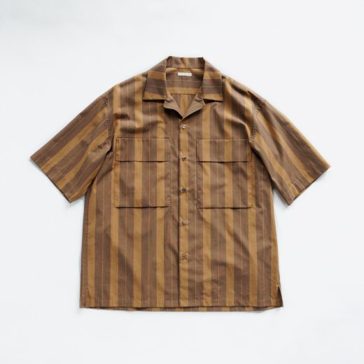<img class='new_mark_img1' src='https://img.shop-pro.jp/img/new/icons1.gif' style='border:none;display:inline;margin:0px;padding:0px;width:auto;' />STRIPED OPEN COLLAR SHIRT