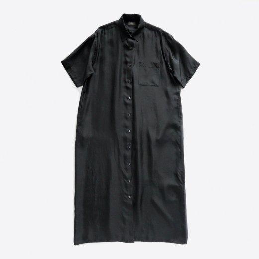 SILK HALF SLEEVE SHIRT DRESS
