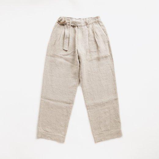 SAFILIN LINEN CANVAS BELTED PANTS