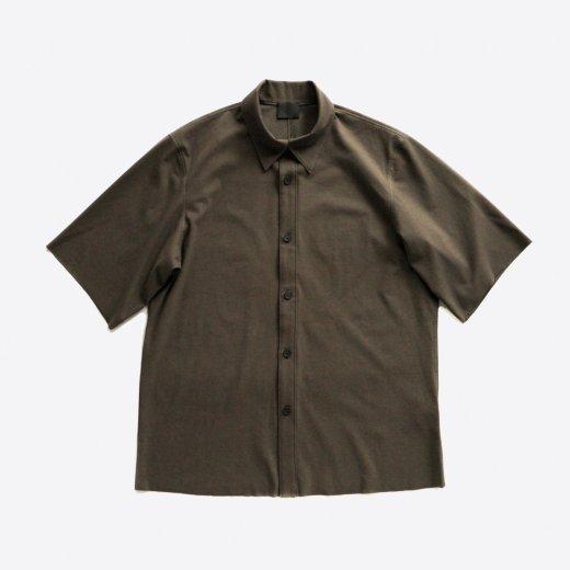 60/- フリーカット強撚ポンチ・ショートスリーブシャツ