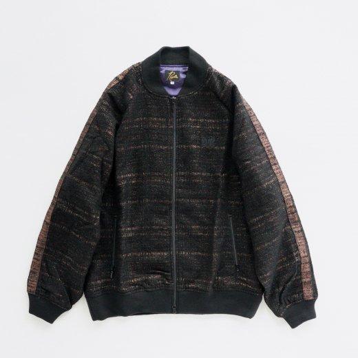 S.L. RIB COLLAR JACKET - W/N/R/PE LAME CLOTH JQ.