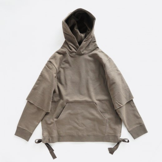 FRENCH TERRY LAYERED HOODIE