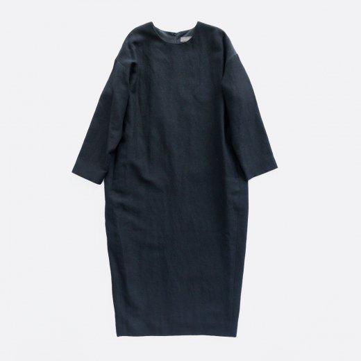 WOOL LINEN COCOON DRESS