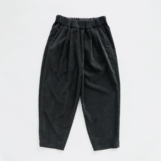 POLYESTER COEDUROY TAPERED PANTS