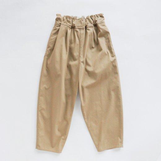 COTTON & POLYESTER HIGH TWISTED YARN GABARDINE PANTS
