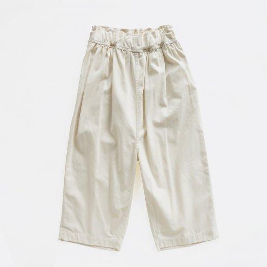 COTTON & POLYESTER HIGH TWISTED YARN GABARDINE WIDE PANTS