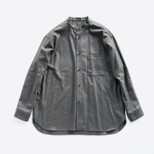 <img class='new_mark_img1' src='https://img.shop-pro.jp/img/new/icons1.gif' style='border:none;display:inline;margin:0px;padding:0px;width:auto;' />SOFT WOOL STAND COLLAR SHIRT