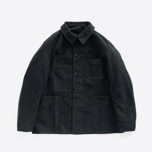 <img class='new_mark_img1' src='https://img.shop-pro.jp/img/new/icons1.gif' style='border:none;display:inline;margin:0px;padding:0px;width:auto;' />BLACK MOLESKIN COVERALL JACKET