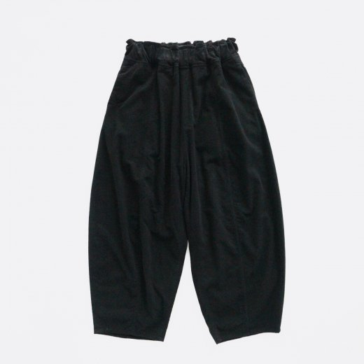 FLANNEL RAYON GARMENT DYED RUGBY WIDE PANTS