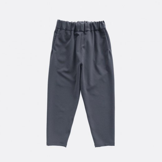 HEAVY POLYESTER DOUBLE CLOTH 2WAY STRETCH TAPERED PANTS