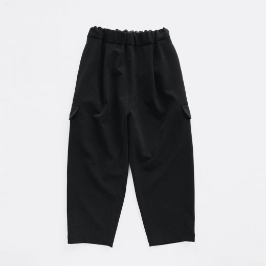 HEAVY POLYESTER DOUBLE CLOTH 2WAY STRETCH PANTS