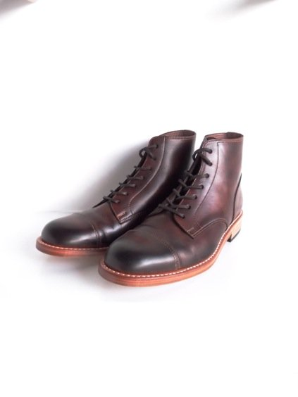 MOTO STRAIGHT TIP Lace-up BOOTS#1500 (BROWN)