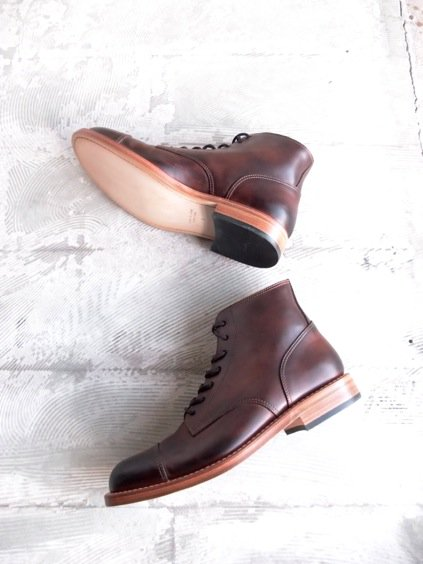 MOTO STRAIGHT TIP Lace-up BOOTS#1500 (BROWN)2