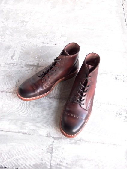 MOTO STRAIGHT TIP Lace-up BOOTS#1500 (BROWN)3
