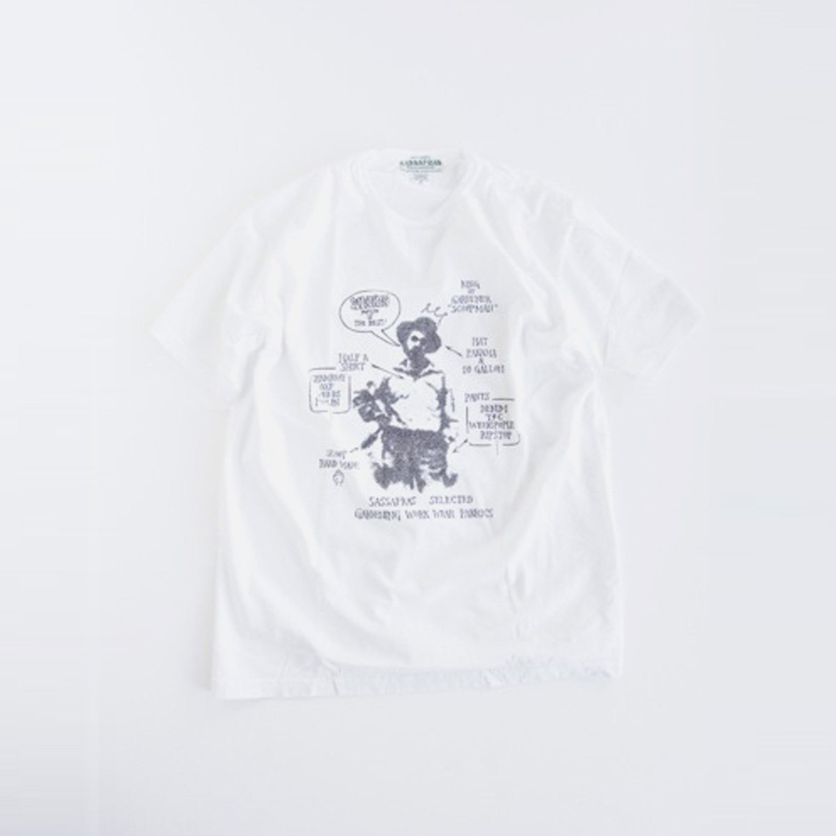 SASSAFRAS SELECTED SCOOPMAN-T(WHITE)