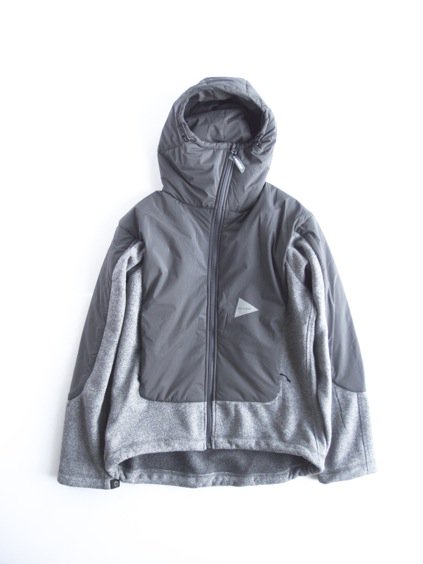 and wander twill fleece jacket(gray)