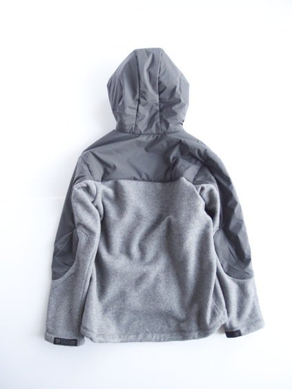 and wander twill fleece jacket(gray)2