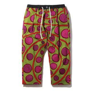MAGIC STICK/AFRICAN CHILLIN' CROPPED TROUSERS