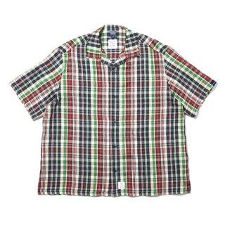 APPLEBUM/90's Linen Check S/S Oversize Shirt