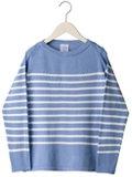 SERGE / コットンボーダーバスクシャツ
