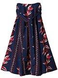 Robes & Confections / ローブスコンフェクションズ レーヨンフラワーストライププリントスカート