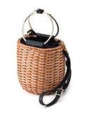 VIOLAd'ORO / ヴィオラドーロ MIRO / スプリットラタンゴールドリングハンドル バケツ型かごバッグ