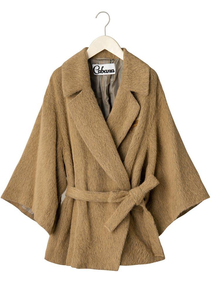Cabana / カバナ CATE ケイト ウール×アルパカ シャギーカシュクールジャケット SHAGGY CAMEL