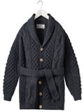 INVERALLAN 6A Long Shawl Cardigan