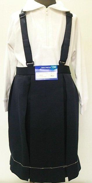 小学生制服 冬スカート(紺) 箱6ヒダスクールスカート ボックスプリーツ P100%