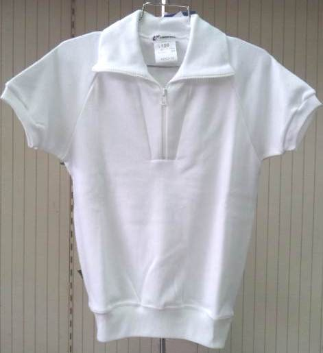 ユニチカ スクールウェア半袖体操服 白 110~120【2枚までメール便対応】