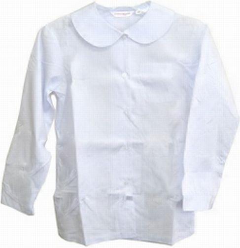 丸衿ブラウス(長袖)B体 制服丸襟ブラウス長袖 【2枚までメール便対応】