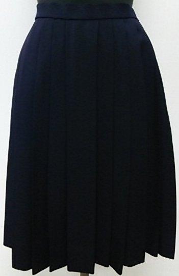 制服冬スカート 箱24ヒダ(紺色)ウール70%ポリ30% セーラー服スカート【撥水・撥油加工】