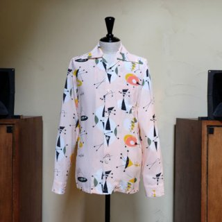 "Aloha Blossom "" Atomic "" Long Sleeve / Pink"