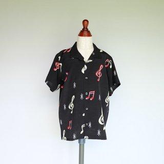 """Aloha Blossom """" Sounds Good """" Kids Aloha Shirts / Black"""