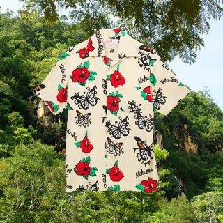 """Aloha Blossom """" Tehu Tehu """" Aloha Shirts / Beige"""