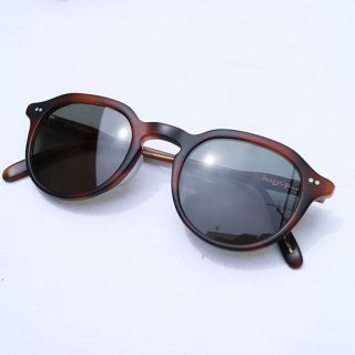 "Buddy Optical "" Sorbonne Sunglasses "" Oak / Green Lens"