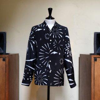 "Aloha Blossom "" Hanabi "" Long Sleeve / Black"