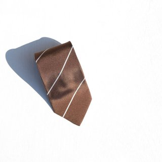 "Solemarley "" Rejimental Tie "" brown × beige"