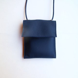 "ERA "" Bubble Calf Poly Pochette "" Navy"