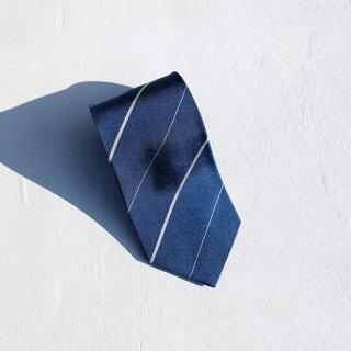 """Solemarley """" Rejimental Tie """" navy × cream × white"""