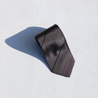 """Solemarley """" Rejimental Tie """" charcoal × black × black"""