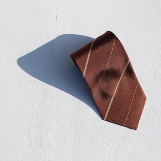 "Solemarley "" Rejimental Tie "" chocolate × camel × beige"