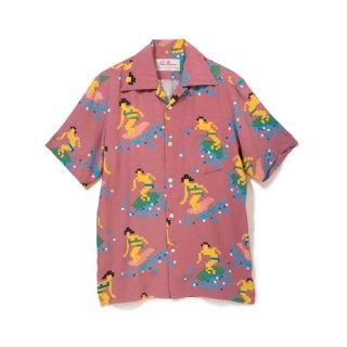 "Aloha Blossom "" Bit Surfer "" Aloha Shirts /  Azuki"
