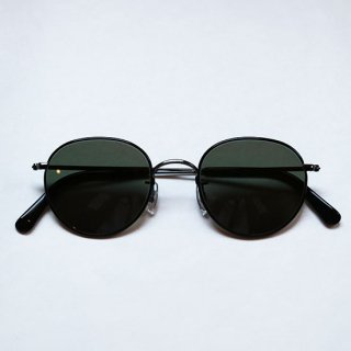 "Buddy Optical "" PRINCETON  Sunglasses"" Titan Black  / Green Lens"