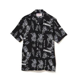 """Aloha Blossom """" Lucky """" Aloha Shirts / Black"""