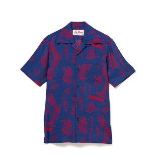 "Aloha Blossom "" Lucky "" Aloha Shirts / Navy"